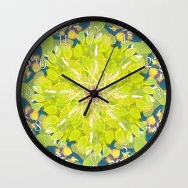 Leaf Pile Mandala Wall Clock