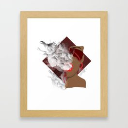 Jaded Scarlet Framed Art Print