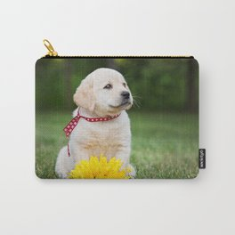 Yellow Lab Puppy Carry-All Pouch
