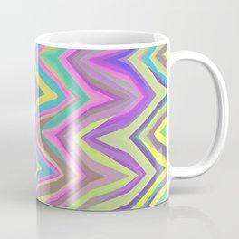 Soft Chevron Wave Yellow Purple Aqua Coffee Mug