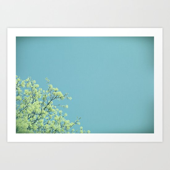 Hello There, Leaves Art Print