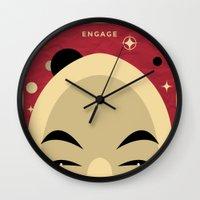 picard Wall Clocks featuring Star Trek TNG Jean Luc Picard Enterprise by jake