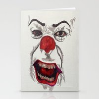 pennywise Stationery Cards featuring IT. by AlienHobo51
