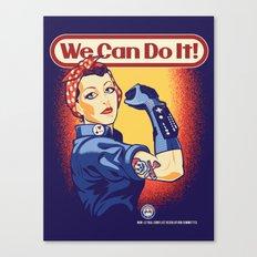 Rosie The Retrogamer Canvas Print