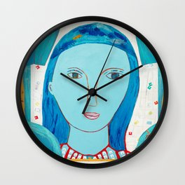 Recycle Queen Blue Wall Clock