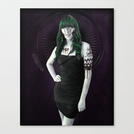 Ghoulish Glamour - Cactus Queen Canvas Print