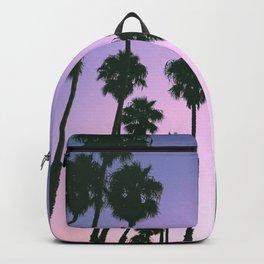 Palm Tree Purple Sunset Backpack