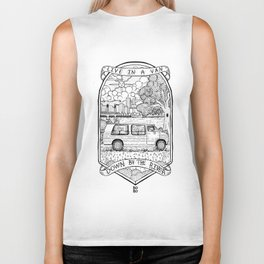 Live In A Van, Down By The River Biker Tank