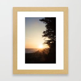 Misty sunset, Fort Bragg, Northern California Framed Art Print