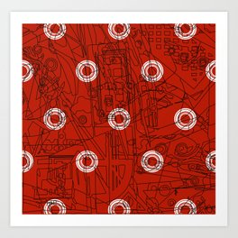 Glory with Polo Circles Art Print