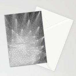 geometry heartbreak Stationery Cards