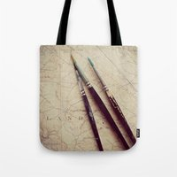 journey Tote Bags featuring Journey by messy bed studio
