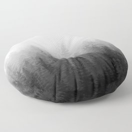 Into The Misty Nature - Black & White Floor Pillow