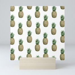 Classic Pineapple Pattern Mini Art Print