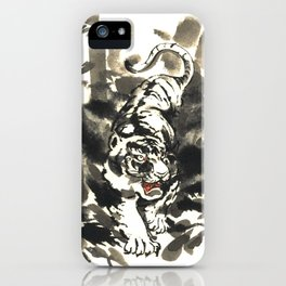 Tiger in bamboo forest iPhone Case