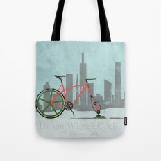 Urban Winter Cycling Tote Bag