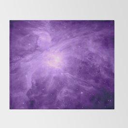 Orion NebuLA Purple Throw Blanket