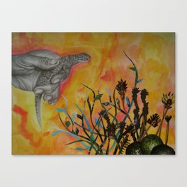 Avocado Lizard Canvas Print
