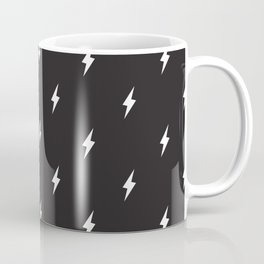 Lightning Bolt Pattern Black & White Coffee Mug