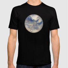 Tulle Mountains Black Mens Fitted Tee SMALL