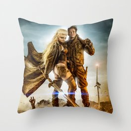 Road Knights Throw Pillow