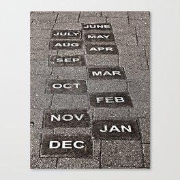 Calendar Walk Canvas Print