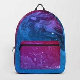 Pink & Blue Nebula Marble Backpack