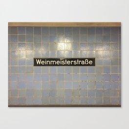 Berlin U-Bahn Memories - Weinmeisterstraße Canvas Print