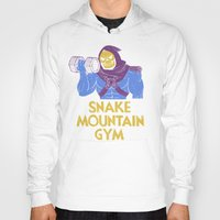 gym Hoodies featuring snake mountain gym by Louis Roskosch