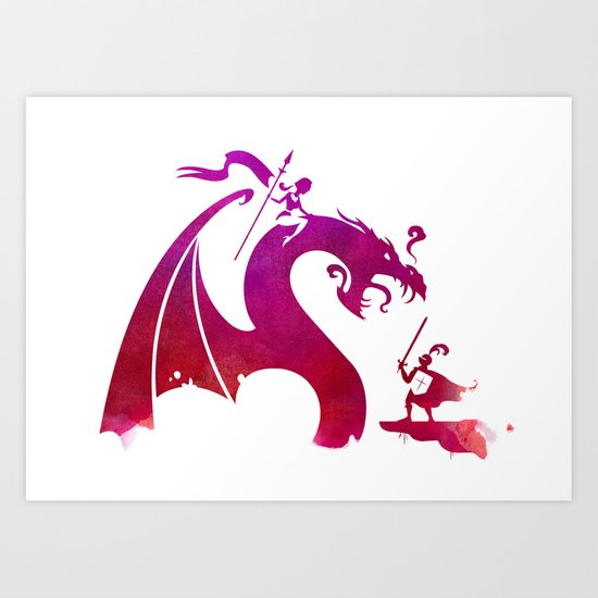 The Dragon Slayer Art Print