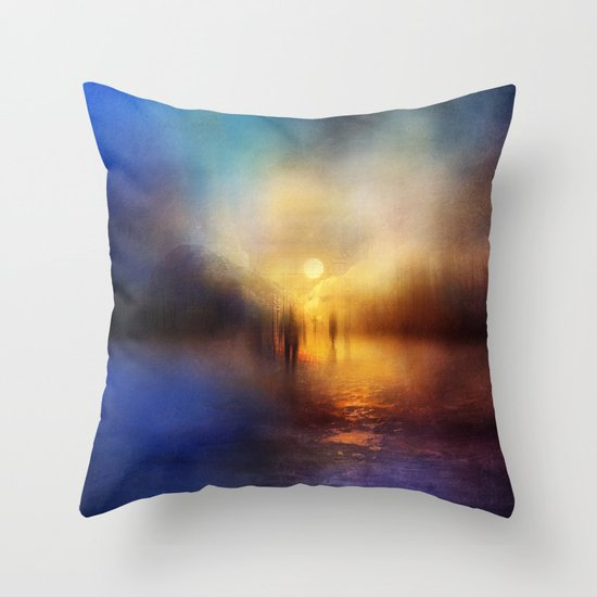 Light Echoes Throw Pillow