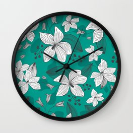 Avery Aqua Wall Clock