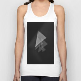 tiny triangle tree of shadow Unisex Tank Top