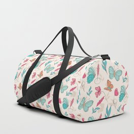 Flower and butterfly Duffle Bag