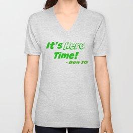 It's Hero Time! Unisex V-Neck