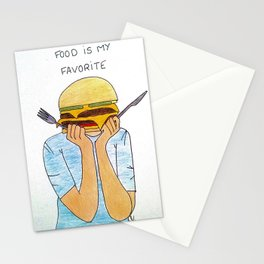 Food is my favorite Stationery Cards