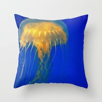 firefly Throw Pillows featuring Firefly by Divine Catastrophe