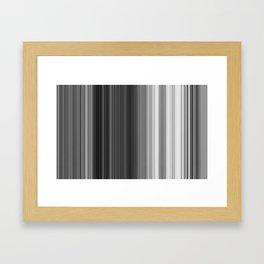 Black White Gray Thin Stripes Framed Art Print