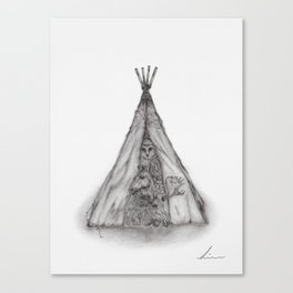 Story time inside the tent Canvas Print