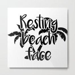 Resting Beach Face Metal Print