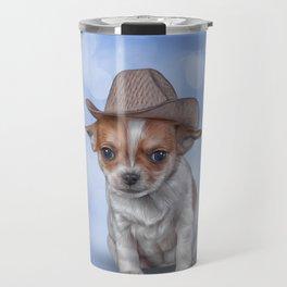 Drawing Puppy Chihuahua Travel Mug