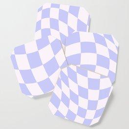 Warped Check - Periwinkle  Coaster