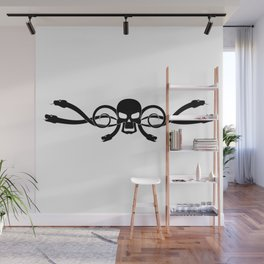 Skull and snakes Wall Mural