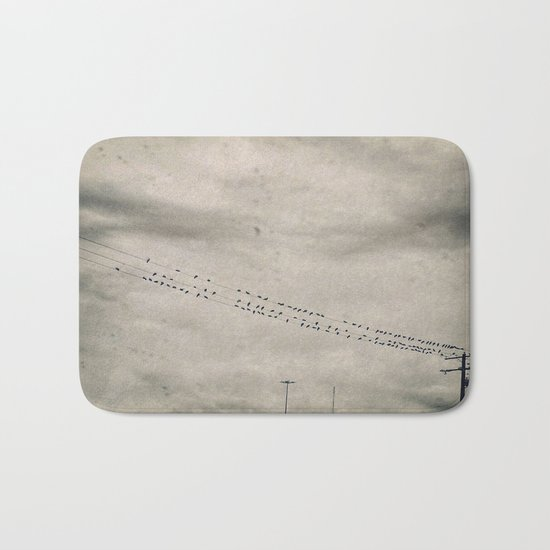Birds in the Rain Bath Mat