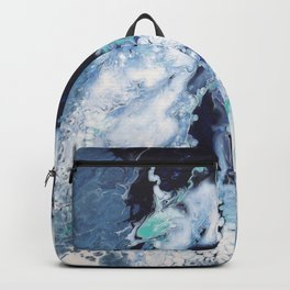 Carefree Blue Abstract Backpack
