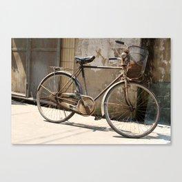 Chinese Old Bike Canvas Print