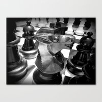 chess Canvas Prints featuring Chess by MartaJ