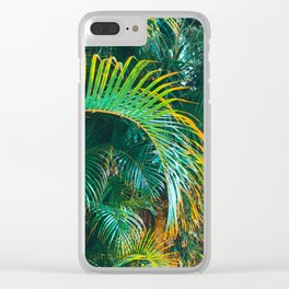 Pop Art Palms Clear iPhone Case