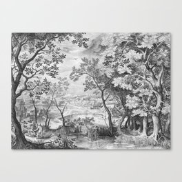 Landscape with Judah and Tamar Canvas Print