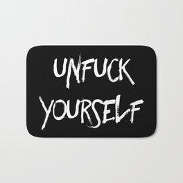 Unfuck yourself (inverse edition) Bath Mat